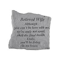 Garden Stone Beloved Wife #807161 Viviano weatherproof memorial gift