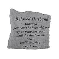 Garden Stone Beloved Husband sm #807162 Viviano weatherproof memorial gift