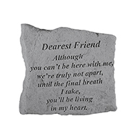 Garden Stone Dearest Friend sm #807163 Viviano weatherproof memorial gift