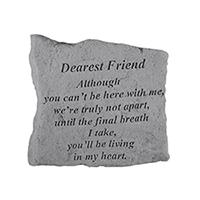 Garden Stone Dearest Friend sm #807163 Viviano weatherproof memorial gift