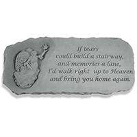 Memorial Bench If Tears Could Build #807371 Viviano Flower Shop weatherproof garden gift