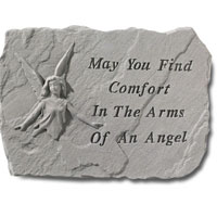Stone - May You Find Comfort #807 693, 766 Viviano weatherproof garden stone memorial with quote, sympathy gift