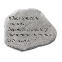 Garden Stone - When Someone  You Love #807 698, 756 Viviano weatherproof quote garden memorial, sympathy gift