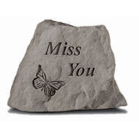 Garden Stone - Miss You #807786 Viviano Flower  Shop keepsake rock sympathy or  memorial gift with saying