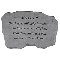 Garden Stone Mother Our Hearts #807986 Viviano weatherproof memorial gift