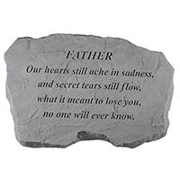 Garden Stone Father Our Hearts #807987 Viviano