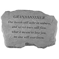 Garden Stone Grandmother Our Hearts #807988 Viviano weatherproof memorial gift