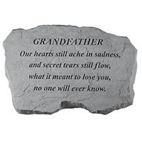 Garden Stone Grandfather Our Hearts #807989 Viviano weatherproof memorial gift