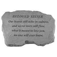 Garden Stone Beloved Sister #807991 Viviano weatherproof memorial gift