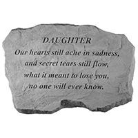 Garden Stone Daughter Our Hearts #807996 Viviano weatherproof memorial gift