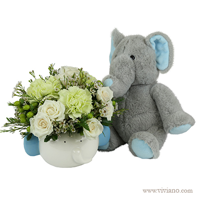 Baby Mine - Blue with or without plush - from Viviano Flower Shop, Detroit MI Florist