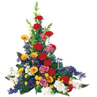 From the Heart #864 Viviano Flower Shop traditional sympathy floral design for memorial or  funeral