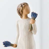 Willow Tree Lavender Grace #91426465 Viviano Susan Lordi sculpture holding bunches of lavender