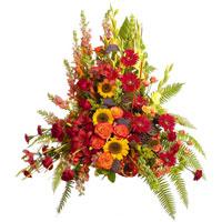 Garden Side Piece #91506  Viviano Flower Shop  funeral and memorial accent arrangement
