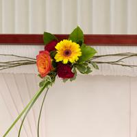 Garden Lid Piece #92306W Viviano Flower Shop  funeral casket lid floral accent
