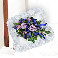 Serene Lid Piece #94216 Viviano Flower Shop funeral service floral arrangement for the casket