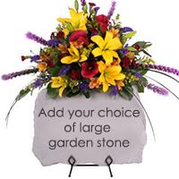 Eden Stone Tribute #94516 Viviano floral sympathy arrangement to accent a  keepsake garden stone