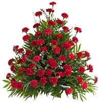Classic Carnation Side Piece #95916 Viviano Flower Shop funeral & memorial service floral arrangement