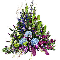 Serene Side Piece #96816 Viviano Flower Shop funeral & memorial service floral accent arrangement