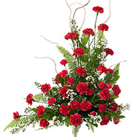 Classic Carnation Memorial #97616 Viviano Flower Shop cremation memorial service floral arrangement