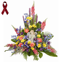 Thoughts and Prayers #99206 Viviano Flower Shop sympathy charity design benefits Multiple Myeloma Research Foundation