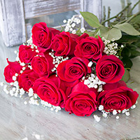 BU 1 Dozen Roses Wrapped #DRWR Viviano