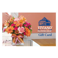 Gift Card #GC Viviano Flower Shop local florist gift card valid at any Viviano's store in Michigan