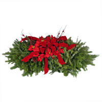 Grave Blanke 4' Deluxe #GRAV4D Viviano Christmas holiday cemetery memorial of evergreens