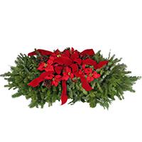 Grave Blanket 4' Premium #GRAV4P Viviano  Christmas holiday cemetery outdoor evergreen memorial